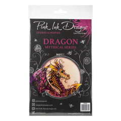 Pink Ink Designs - A5 Clear Stamp Set - Dragon