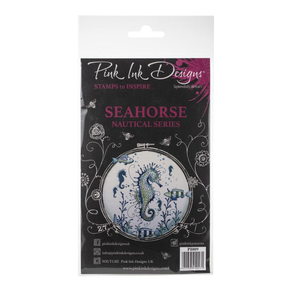 Pink Ink Designs - A5 Clear Stamp Set - Seahorse