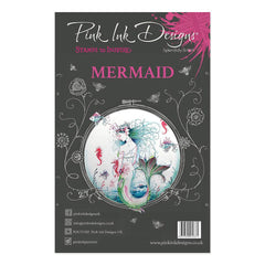 Pink Ink Designs - A5 Clear Stamp Set - Mermaid