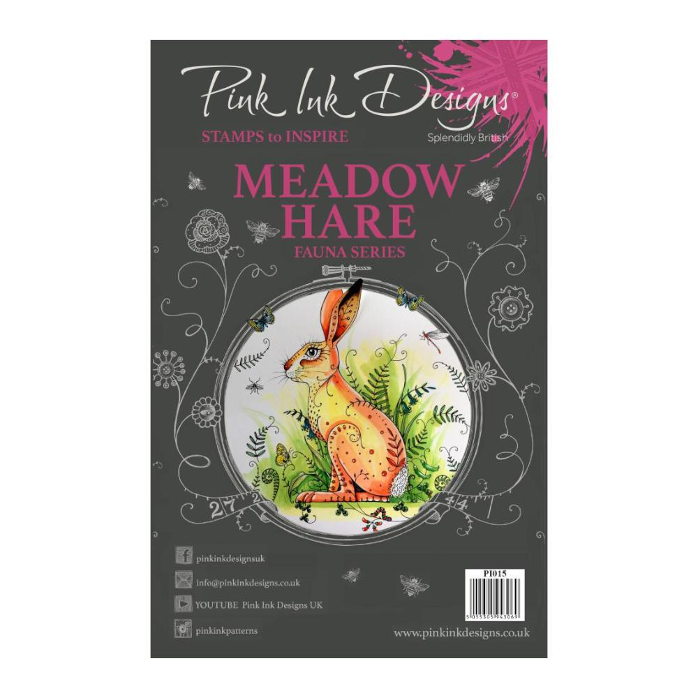 Pink Ink Designs - A5 Clear Stamp Set - Meadow Hare