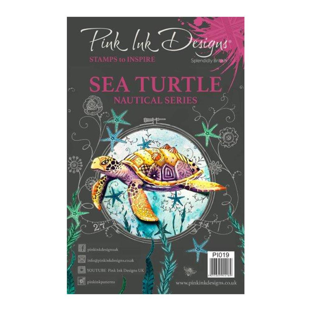 Pink Ink Designs - A5 Clear Stamp Sea Turtle