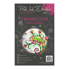 Pink Ink Designs - A5 Clear Stamp - Chameleon