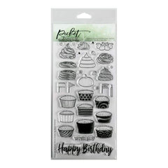 Picket Fence Studios 4 inch X8 inch  Stamp Set Cupcake Love