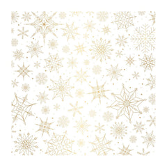 Pink Paislee - Together For Christmas - Specialty Vellum 12X12in - Snow Flakes with Gold Foil