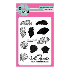 Pink & Main Clear Stamps 3 inch X4 inch Shellebrate