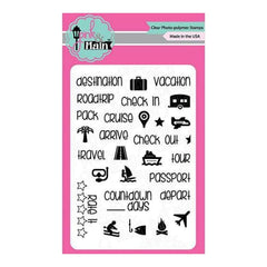 Pink & Main Clear Stamps 3Inch X4inch  Planning Vacation