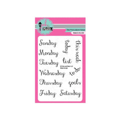 Pink & Main Clear Stamps 3Inch X4inch  Week Script