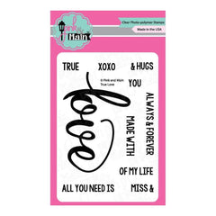 Pink & Main Clear Stamps 3X4 True Love