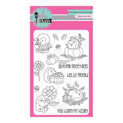 Pink & Main Clear Stamps 4 inch X6 inch Fall Friends