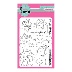 Pink & Main Clear Stamps 4 inch X6 inch Hedgehugs
