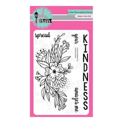 Pink & Main Clear Stamps 4 inch X6 inch Kindness Floral