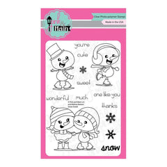 Pink & Main Clear Stamps 4 inch X6 inch Snow Sweet