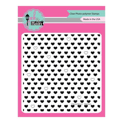 Pink & Main Clear Stamps 6 inch X6 inch Polka Hearts