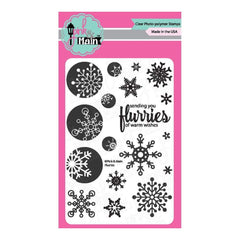 Pink & Main Clear Stamps Flurries 4 inch x6 inch
