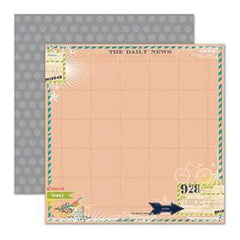 Pink Paislee - Daily Junque - News 12X12 Double-Sided Paper