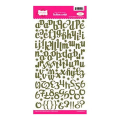 Pink Paislee - Fashion Script Alpha Stickers - Green