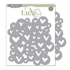 Pink Paislee - Luxe Collection - Placemats Hearts