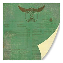 Pink Paislee - Old School - Goody 2 Shoes 12X12 Double-Sided Paper