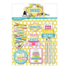 Pink Paislee - Soiree - Glitter Dimensional Stickers