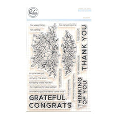 Pinkfresh Studio - Clear Stamp Set 4 inch X6 inch - Bloom