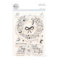 Pinkfresh Studio - Clear Stamp Set 4 inch X6 inch - Great Joy