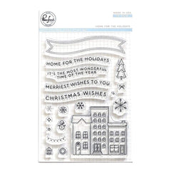 Pinkfresh Studio - Clear Stamp Set 4 inch X6 inch - Home For The Holidays