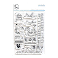 Pinkfresh Studio - Clear Stamp Set 4 inch X6 inch - Merry & Bright Toy Shop