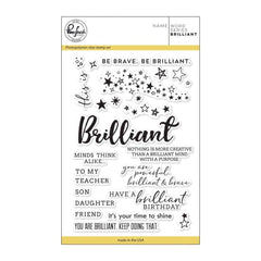 Pinkfresh Studio Clear Stamp Set 4 inch X6 inch - Word Series: Brilliant