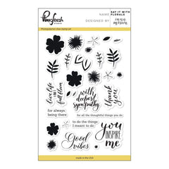 Pinkfresh Studio Clear Stamp Set 4X6 Say It With Florals