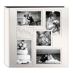 Pioneer  - Sewn Embossed Collage Frame 5-Up Photo Album 12In. X12in.  Wedding