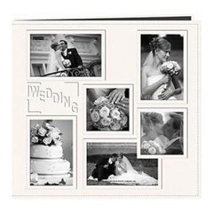 Pioneer  - Sewn Embossed Collage Frame Post Bound Album 12In. X12in.  Wedding - White