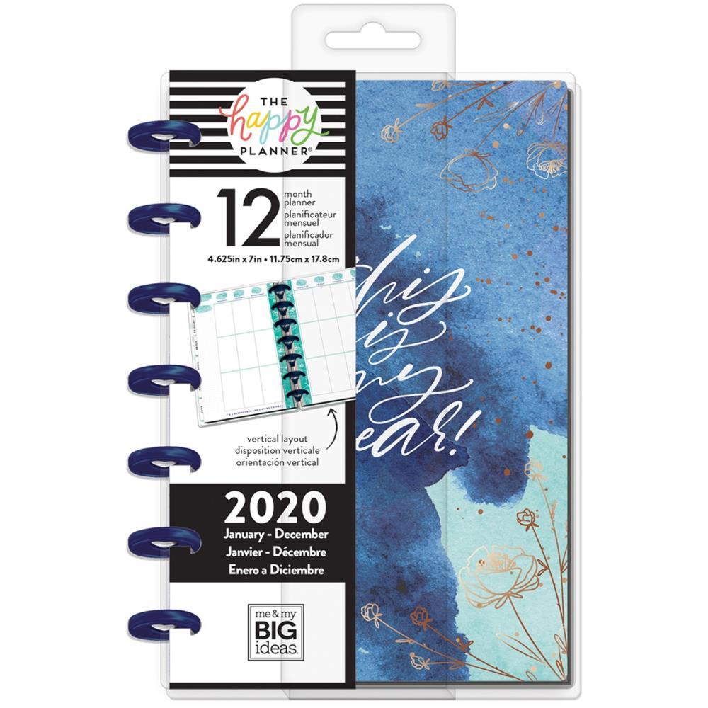 Me & My Big Ideas Happy Planner 12-Month Dated Mini Planner 7 inchX4 625  inch Year To Shine, Jan - Dec 2020