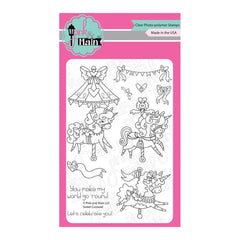 Pink & Main - Clear Stamps 4inch X6inch - Sweet Carousel