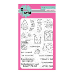 Pink & Main - Clear Stamps 4inch X6inch - Breakfast Fun