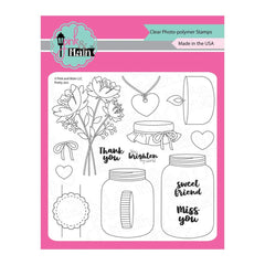 Pink & Main - Clear Stamps 6inch X6inch - Pretty Jars
