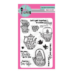Pink & Main - Clear Stamps 4inch X6inch - Tea-Rific