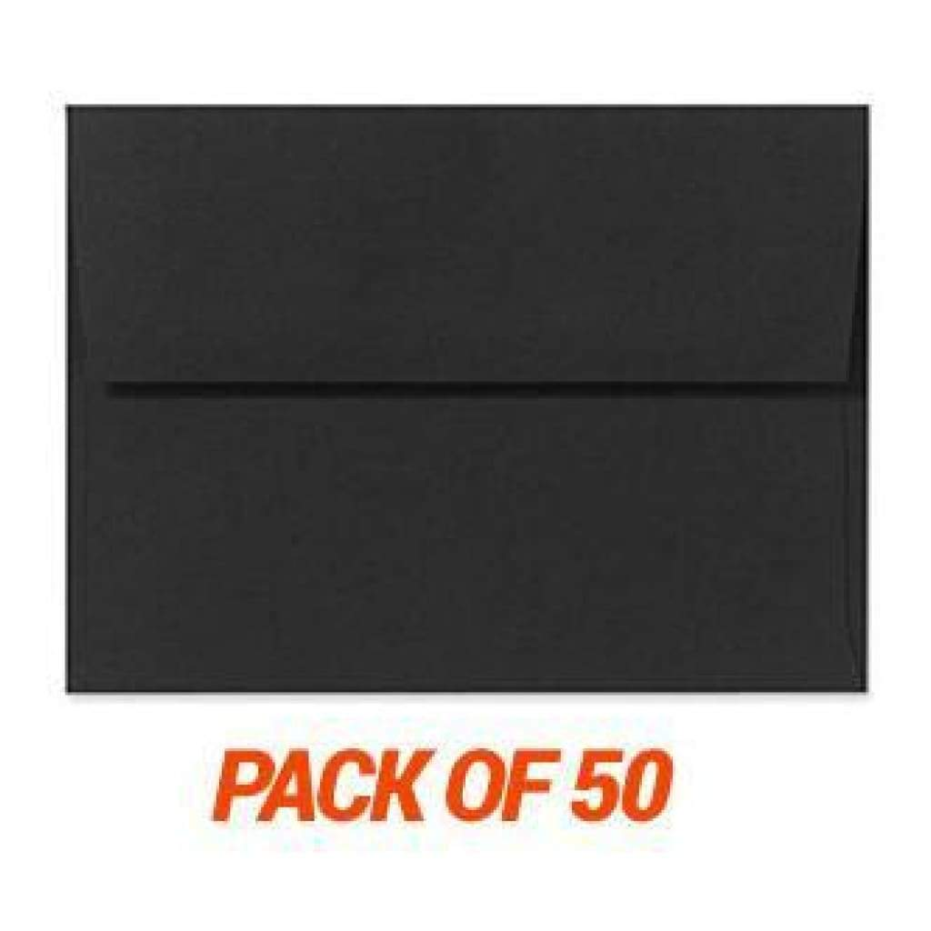 Poppy Crafts - 5Inch X7inch Black Envelopes - 50 Pack