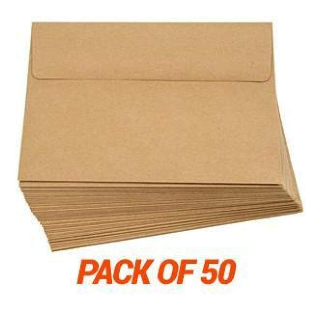 Poppy Crafts - 5X7 Kraft Envelopes - 5X7 Inches - 50 Pack