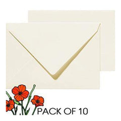 Poppy Crafts - A6 Cards And Envelopes - Cream