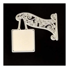 Poppy Crafts Dies - Square Hanging Sign with Ornate Hanger Die Design