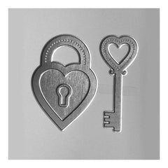 Poppy Crafts Hot Foil Stamps - Heart Lock Poppy Crafts Hot Foil