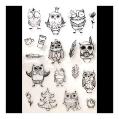 Poppy Crafts Stamps - All the Owls