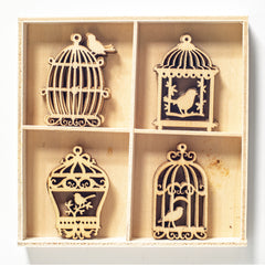 Poppy Crafts - Wooden Elements - Bird Cage