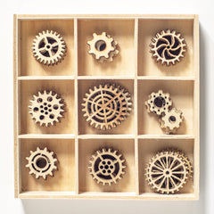 Poppy Crafts - Wooden Elements - Steampunk cogs