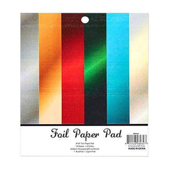 Poppy Crafts - Paper Pad - Cardstock - Foil Pad 6 inch x 6 inch - 18 Sheets