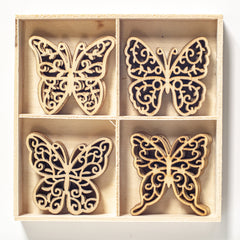 Poppy Crafts - Wooden Elements - Butterflies