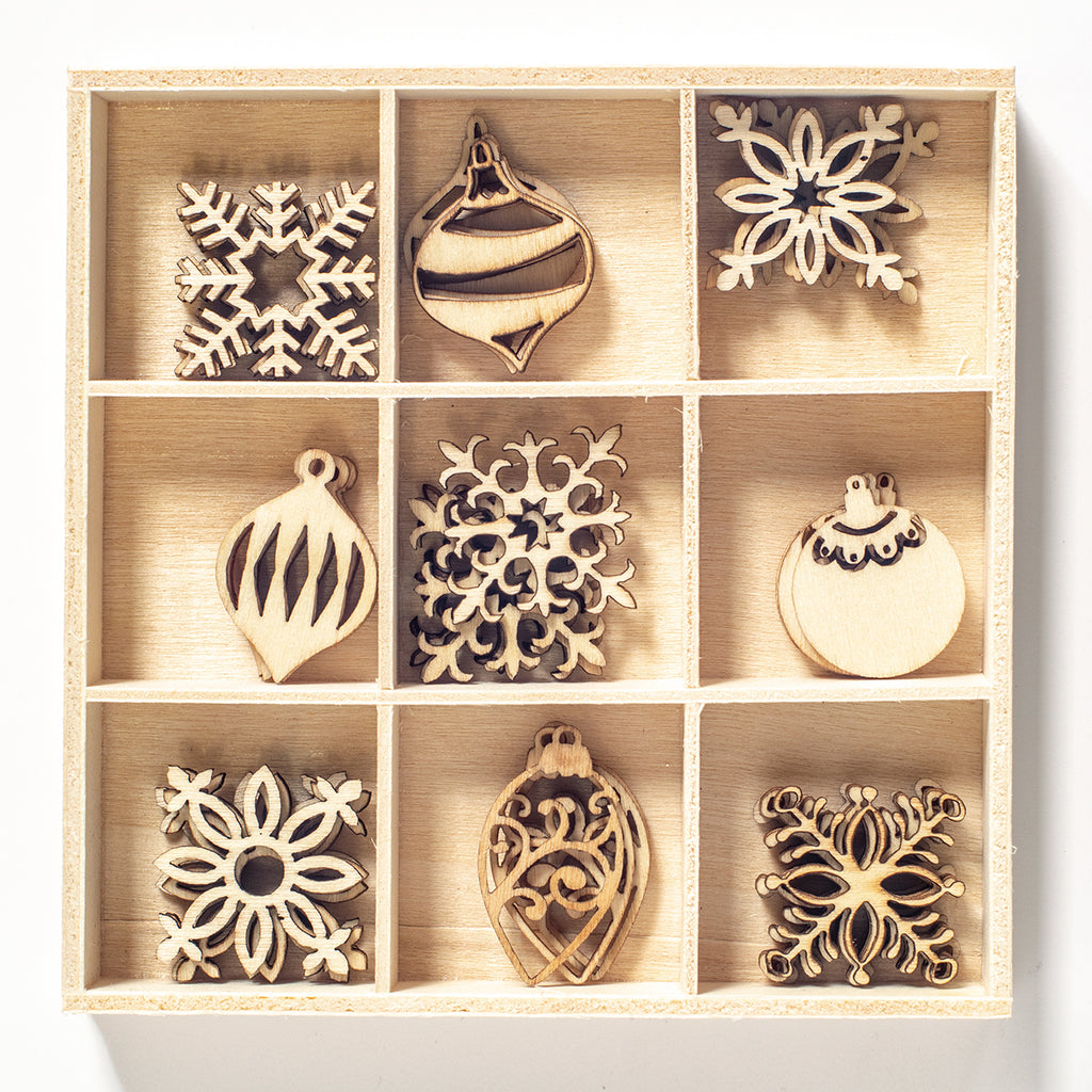 Poppy Crafts - Wooden Elements - Christmas ornaments