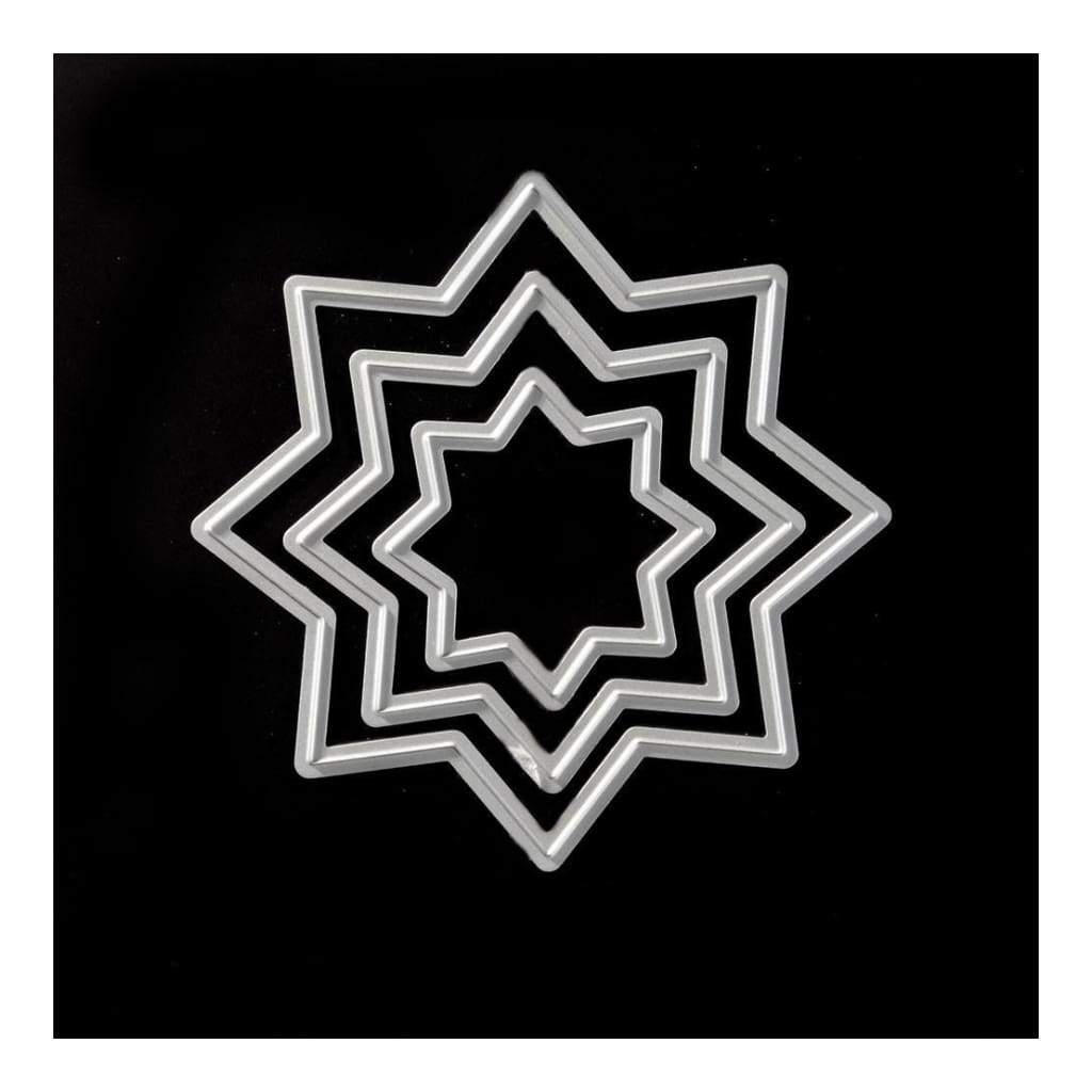 PoppyCrafts Cutting Die - Nested Star die design with three dies