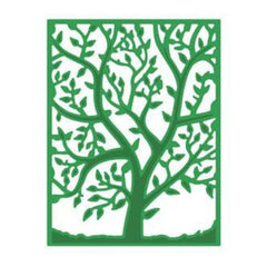 Poppycrafts Dies - Rectangle Frame With Tree Design Die