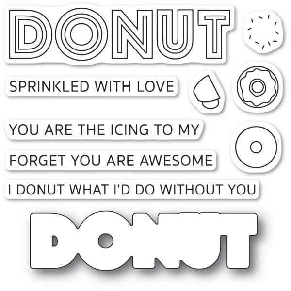 PoppyStamps Stamps - Donut What I'd Do